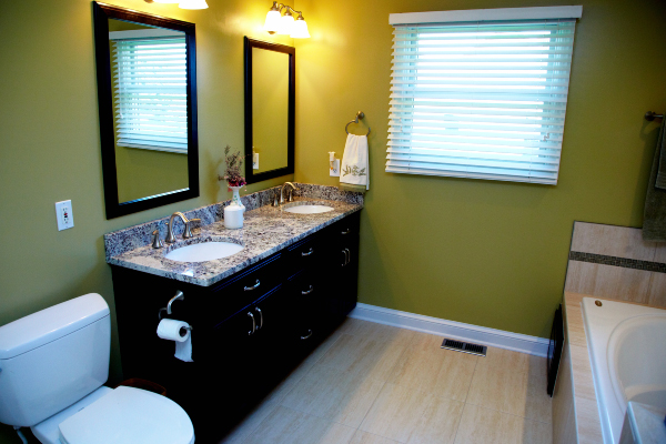 tiled bathroom flooring