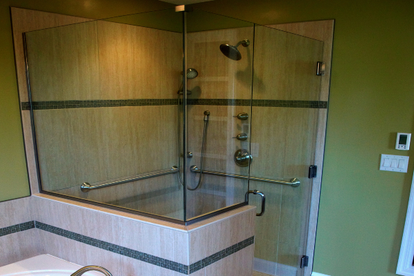 glass bathroom shower doors