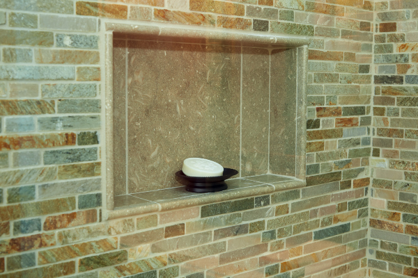 bathroom shower stone wall design